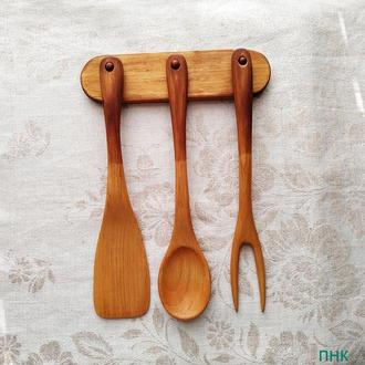 """Деревянная посуда. Набор кухонной утвари """" 3 Липа 28 """"."""