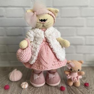 Кошечка тильда, подарок игрушка кошечка, оригинальный декор,сувенир