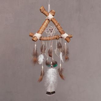 Дикий ловец снов с яшмой, Подарок на 8 Марта,Натуральный лесной ловец снов,Необычный подарок подруге