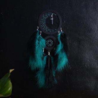 Ловец снов с авантюрином, декор и оберег снов, оригинальный подарок