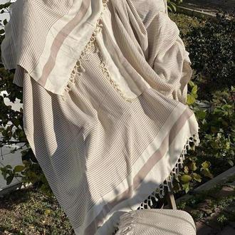 Плед из бамбука, большой плед, красивое покрывало, большое покрывало, лёгкое одеяло