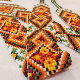 Гердан Орнамент,  женское украшение из чешского бисера