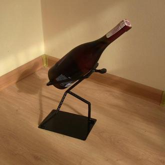 """Подставка """"Человек тащит бутылку"""". Подставка для бутылок шампанского/вина/коньяка"""