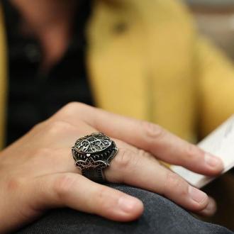 Перстень тайник кольцо из серебра с секретом ручной работы серебряное с открывающейся крышкой
