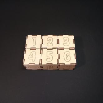 """Детские деревянные кубики """"Арифметика"""" с цифрами (6 шт) в коробке"""