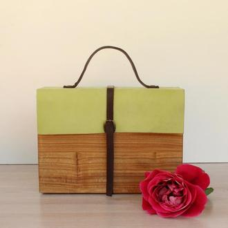 Сумка із дерева/ деревянная сумка
