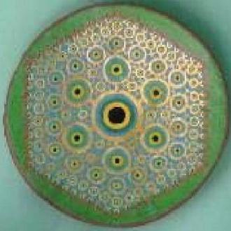 """Тарелка  """"Вхождение""""  42 см керамика настенная большая Блюдо керамическое"""