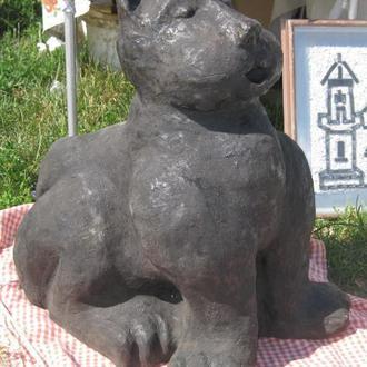 Кот 70 см керамика большой керамический скульптура кошка