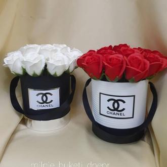 Цветы из мыла. Букеты роз из мыла