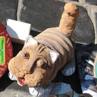Кот 45 см керамика большой керамический скульптура кошка