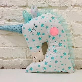 единорог подушка-игрушка сплюшка-звездный декор в детскую-подарки для детей