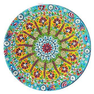 """Декоративная тарелка диаметром 41,5 см """"Центр Агры"""" шамотной трипольской глины станет изысканным"""