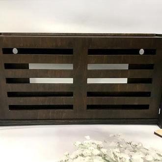 """Коробка для роутера на стену """"Lines"""" 30х15х7 см Палисандр"""