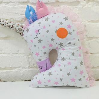 единорог подушка в звездочку-игрушка сплюшка-подарки для маленьких девочек