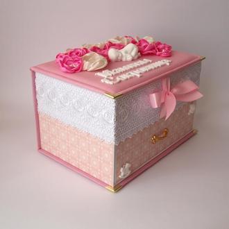 Мамины сокровища для девочки Комод Розовые цветы