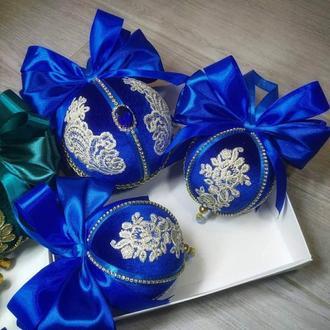 Новогодние шары, эксклюзивные ёлочные игрушки ручной работы