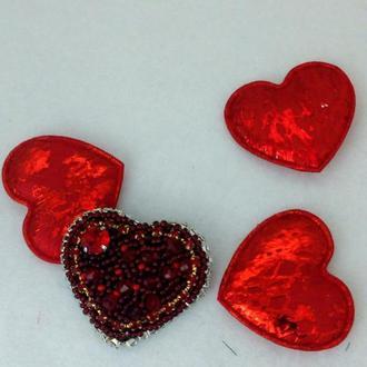 Брошь Рубиновое сердце