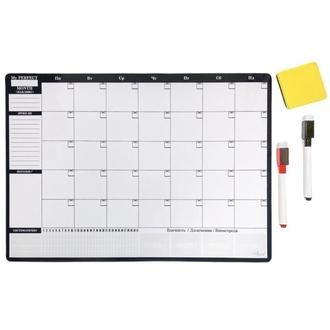 Магнитный Планер на месяц My Perfect Month Бизнес LifeFLUX А3 черно-белый