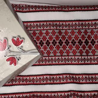Праздничная нарядная скатерть с вышивкой