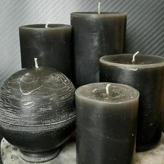 Набор черных свечей