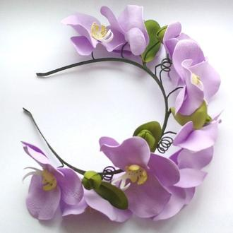 ободок венок с орхидеями