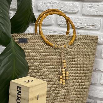 Джутовая сумочка ✨𝐌𝐚𝐝𝐞𝐥𝐢𝐧𝐞 ✨