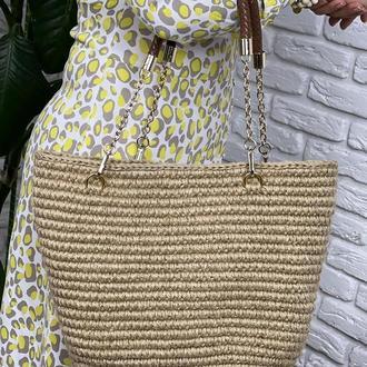 Джутовая сумочка ✨𝐌𝐞𝐫𝐥𝐢𝐧 ✨