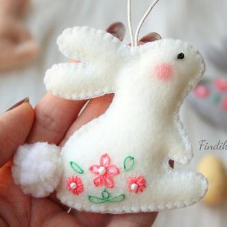 Весенний зайчик в стиле тильда. Пасхальный декор для дома