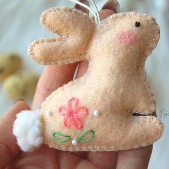 Пасхальный кролик. Подвеска пасхальная. Пасхальный декор