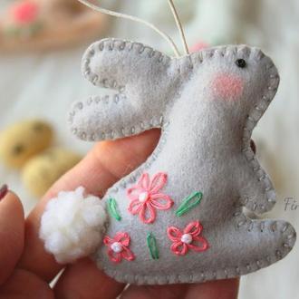 Весенний зайчик тильда. Тильда кролик Весенний декор, пасхальный заяц