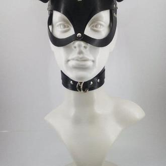 Шкіряна маска (кішки ,зайчик ,Міккі),БДСМ, для дорослих , 3 види