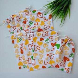 Эко мешок 20*15, эко торбочка, мешочек для хранения, для продуктов, мішечок з бавовни zero weste