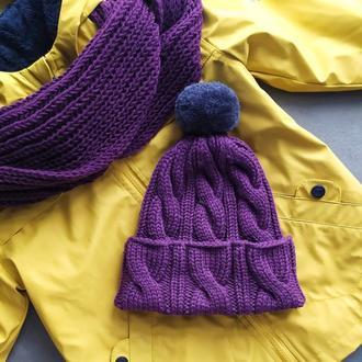 Весенний комплект шапка шарф