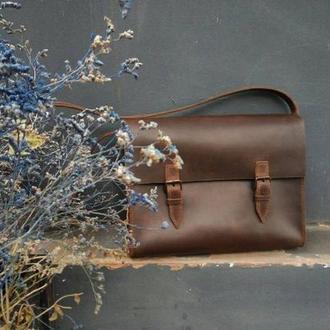 Кожаная сумка мужская из натуральной кожи