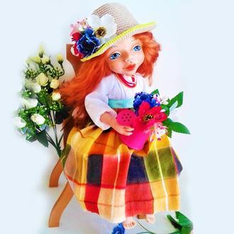 Национальная кукла. Интерьерная, кукла. Кукла с голубыми глазами. Сувенирная кукла