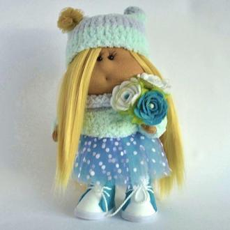 Кукла декоративная из ткани Мятная конфетка