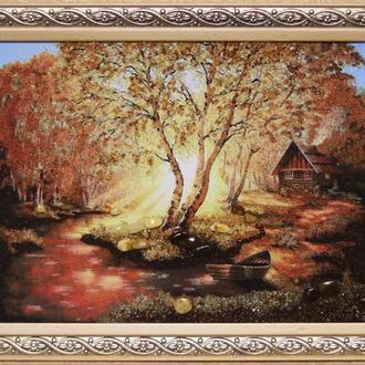 """Картина с янтаря """"лес"""""""