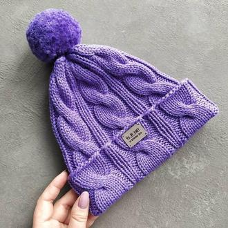 Весенняя шапочка для девочки