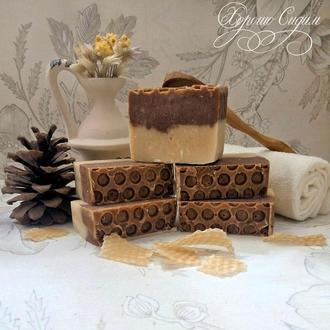 Мыло на козьем молоке «Молоко и мёд»
