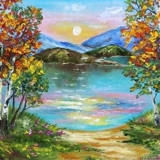 Картина маслом Пейзаж на реке