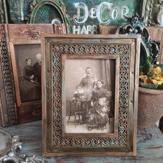 Рамка для фотографии винтажная, под старину