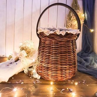 Плетеная сумка Сумка бочонок Сумка женская Плетеная сумочка - корзинка