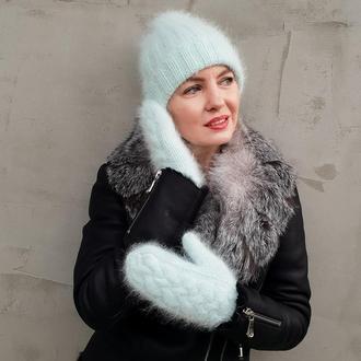 зимовий комплект (шапка ,рукавиці та снуд)