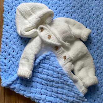 Дитячий в'язаний комбінезон . комбінезон для немовляти