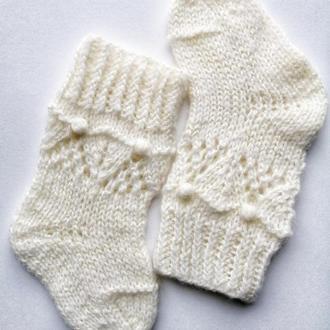 Носочки для младенцев 100%мериносовая шерсть