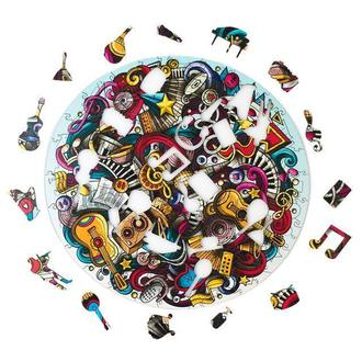 Rock`n`roll музыка : деревянный пазл + СЕКРЕТНЫЙ ПАЗЛ размер Large 167 шт