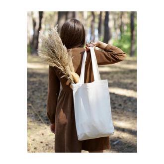Большой шопер из натурального материала, эко сумка, хлопковая сумка, сумка для покупок