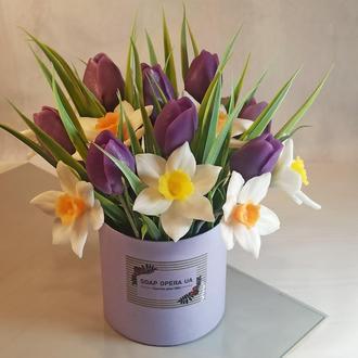 Весняний букет для коханих і дорогих. Органічне мило ручної роботи