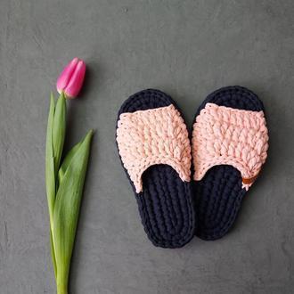 Женские тапочки для дома, цвета Сапфир и Фламинго, размер 36-37