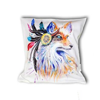 Подушка с ручной росписью
